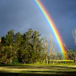 rainbows-enroute-to-Nightfall-wilderness-camp-luxury-tent-glamping-queensland-australia